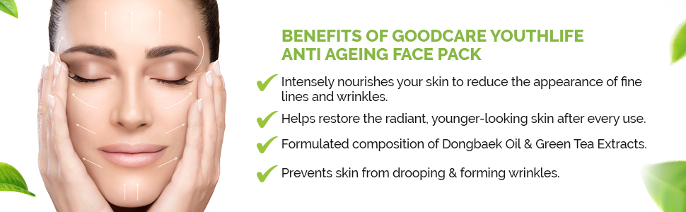 Benefits Of Goodcare Youthlife Anti Ageing Face Pack
